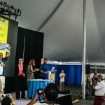 Chaque année, lors des Fab conférences internationales, a lieu la remise des diplômes de la Fab Academy, comme ci-dessus à Boston pour FAB11. © Quentin Chevrier-Makery