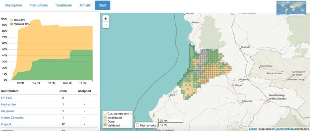 «Mapping Ecuador»: 1,5 million de modifs sur la carte pour l'Equateur