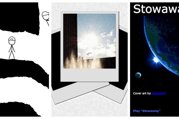 Trois fictions interactives signées de trois figures du genre: Andrew Plotkin, Zoe Quinn et Tanya Short (montage). © DR