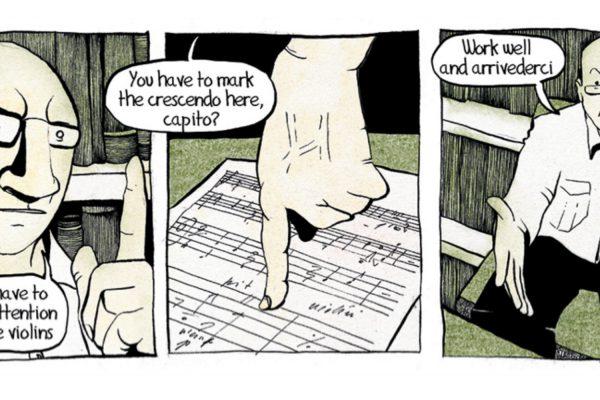 Extrait de «Max Order», webcomic dont Flow Machines est la star et a composé la bande sonore (capture écran). © Fiammetta Ghedini