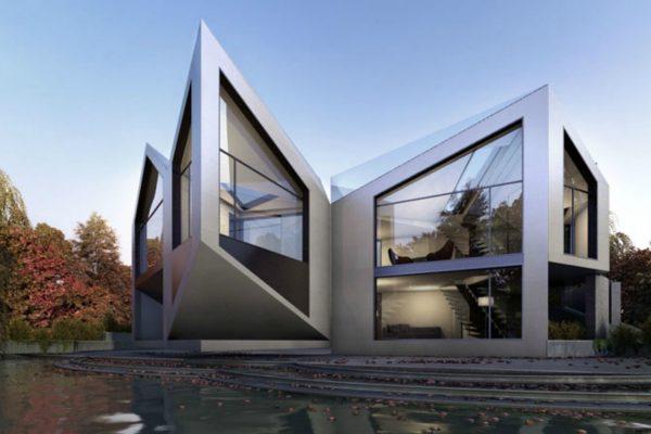 Vue 3D de la maison dynamique des architectes londoniens de D*Haus. © D*Haus