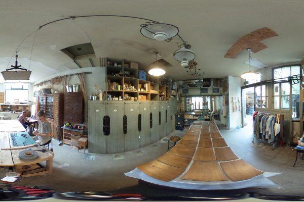 Vue 360 en 2D de l'Etablisienne à Paris, le format photo pour afficher des images en VR. © Makery