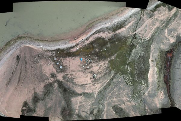 Embouchure de la rivière Ikpik en Terre de Baffin, orthophotographie aérienne prise en 2009. © Projekt Atol