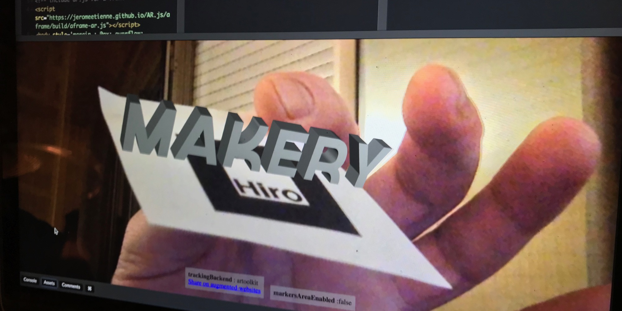 Embed augmented reality into your Web page with 10 lines of