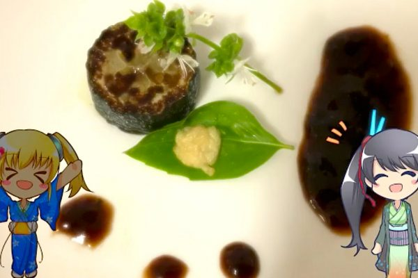 Foie gras (center) cultivated by Shojinmeat (screen capture). © Shojinmeat Project