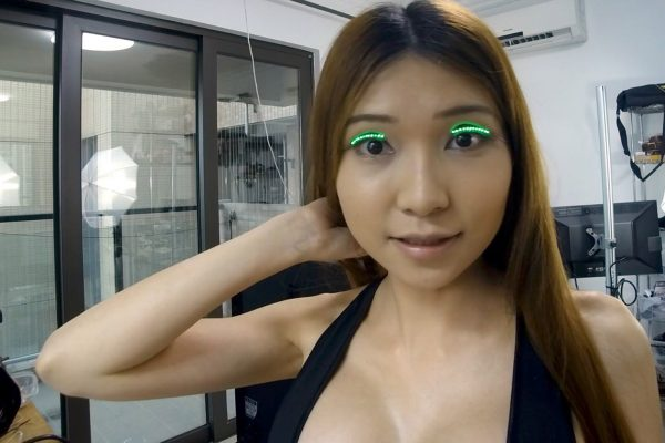 Naomi Wu, alias Sexy Cyborg, a maker to the tips of her lashes. © Naomi Wu