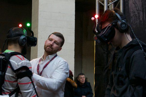 La création russe avait sorti les cornes avec «The Psycho VR», une expérience multijoueurs, tendance du salon. © Nicolas Barrial