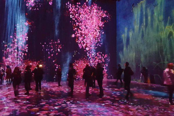 Les visiteurs font partie de l'installation dans «Au-delà des limites» à la Grande Halle de la Villette. © Annick Rivoire