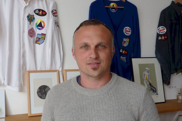 Julien Masson, spécialiste de l'écodesign, membre du collectif les ManufActeurs à Brest. © Makery