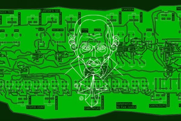 Oi, Kant! circuit board, the first drum machine made by artist Ewa Justka. © Ewa Justka