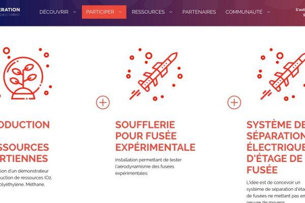 La plateforme Open Space Makers permet d'intégrer des groupes projet.