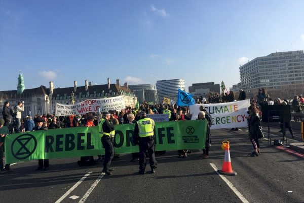 Extinction Rebellion, le 17 novembre 2018 à Londres © ClimateKeys