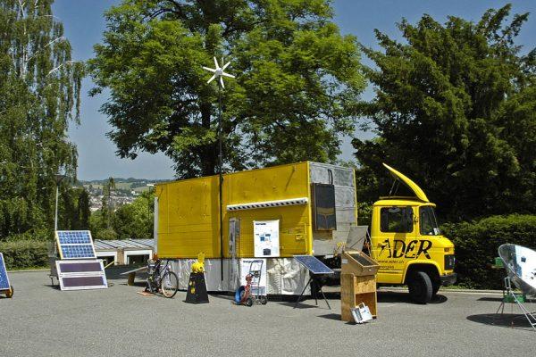 Le camion ITEX de l'Ader, pour ITinérante EXposition. © ADER